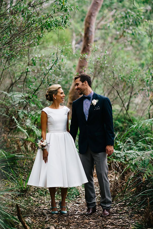 Lauren and Brent looking divine on their wedding day. Lauren is wearing a custom made Wendy Makin Couture dress. Featured on the Hello May blog.