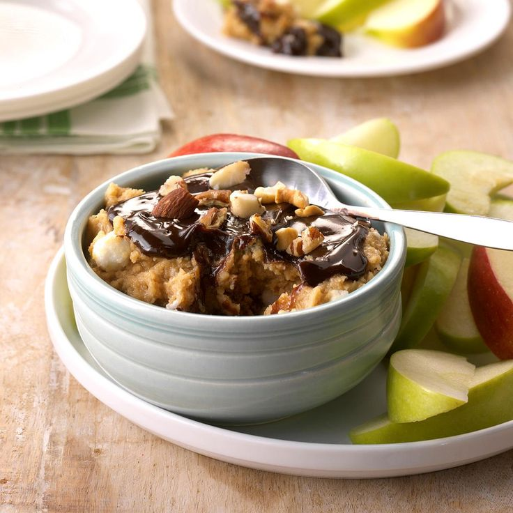 Festive Apple Dip Recipe -I came up with this layered peanut butter treat when my dad gave me a big bag of apples. The dip has been one of my favorites ever since. In addition to serving it with apples, try it with graham crackers, vanilla wafers, banana chunks or animal crackers. —Theresa Tometich, Coralville, Iowa