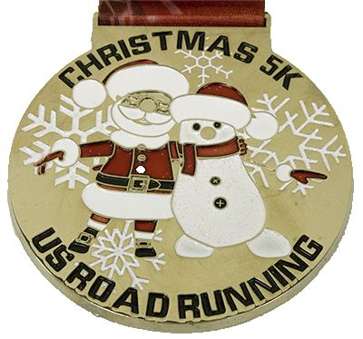 US Road Running - Christmas Virtual 5K - Completed
