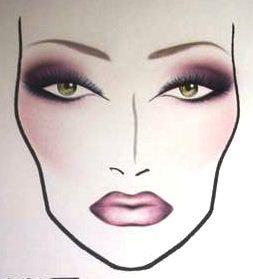 mac cosmetics face charts
