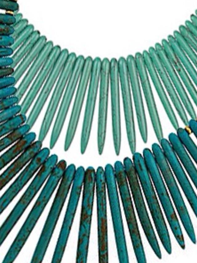 Teal/aqua necklace