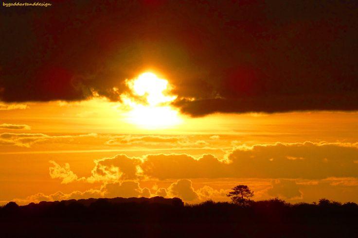 October sunset over Salisbury plain by ByGaddArtandDesign on Etsy