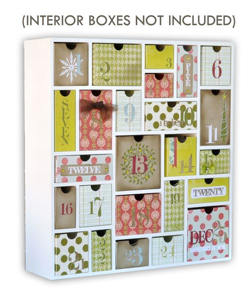 Silhouette America - Wood Shadowbox - Advent Calendar Kit - White at Scrapbook.com $39.99