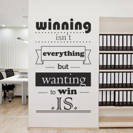 Sticker decorativ Winning