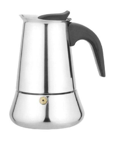 "Ovente Stovetop Espresso Maker - MPE09 by Ovente. $15.99. Stainless Steel Construction. 9 cup capacity. Ready in 4-5 minutes; Sizes based on 1-1/2 ounce ""cups"". Produces great tasting espresso. Fits right on the stovetop. Ovente produces simplicity yet fascinating designed with superior quality stainless steel construction espresso coffeemakers. Easy to us that fits right on the stovetop that produces rich cups of authentic Italian espresso in just 4-5 minutes"