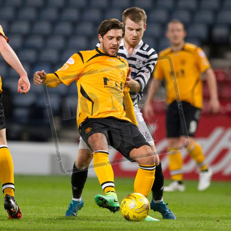 Annan Athletic's Matthew Flynn on the ball during the SPFL League Two game between Queen's Park and Annan Athletic.
