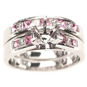 14 best 14k White Gold SemiMount Engagement Rings images on