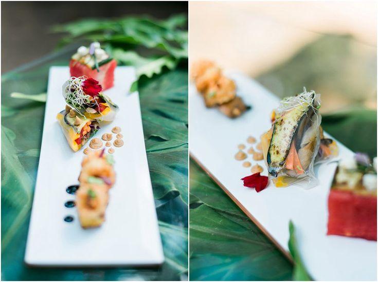 Tropical Safari Wedding Casablanca Manor Wedding Venue Photo credit: Ironrose Food design by Casablanca Manor