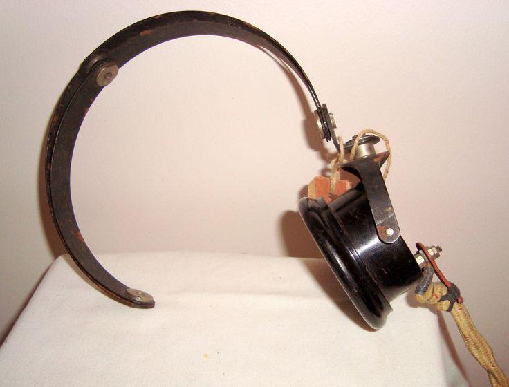 WW2 Vintage S.G Brown YA 1281 receiver headgear CLR Single Mk IV. Vintage Military Communication Equipment. http://etsy.me/2o1fR48 #art #headreceivers #racal #radiooperator #vintagetechnology #sgbrown #headphones #sgbrownya1281 #ww2