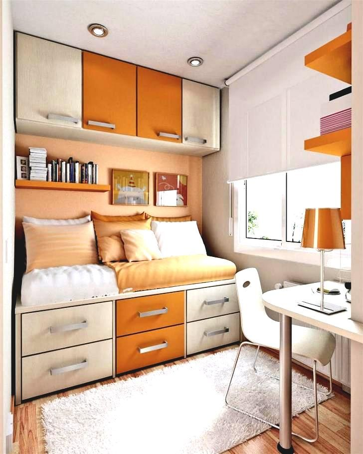 25+ Orange Bedroom Decor and Design Ideas for 2017  - Bedroom is the most intimate part of any home, therefore bedrooms designs, decors and colors reflect their owners characters and preferences. Preparin... -  small-orange-bedroom3 .