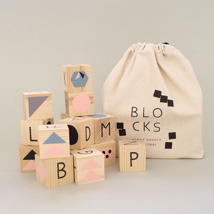 Hanna Konola; Design for alphabetical blocks for Lokal Helsinki.