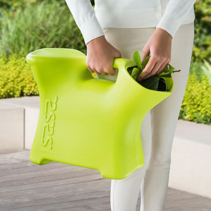Young designer Kitta Pertulla has developed the Sasa Saddle seat, which is perfect for the garden. Comfortably sit to gather weeds, and then throw them into the bucket. Sasa is made from durable food approved plastic, and is easy to clean. Plus, it's just a super fun colour! This multi tasker can also be used for berry picking, fishing and ice fishing, gather toys, or whatever you can invent. Let us know what you think of.