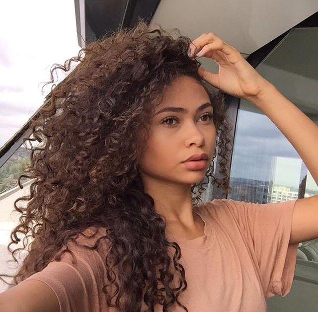 Natural curly hair ♡                                                                                                                                                                                 More