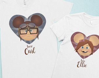 Disney camisetas camisa de parejas camisas por AlaneMaineDesigns