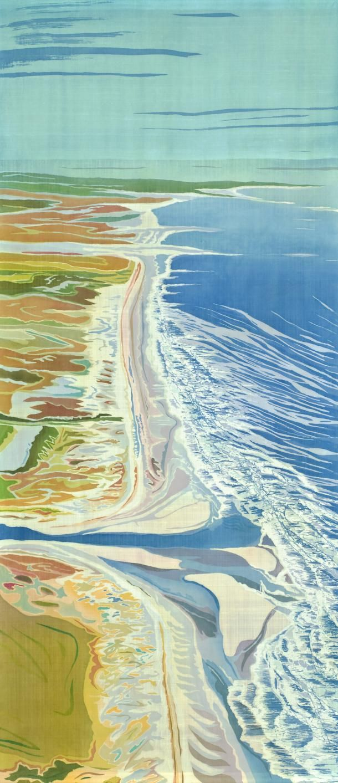 Mary Fraser, Batik on silk; Edingsville Beach, South Carolina