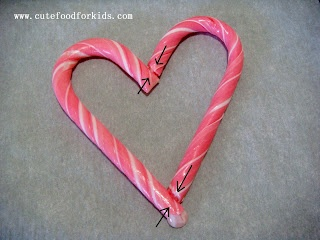 Cute Food For Kids?: Candy Cane Hearts