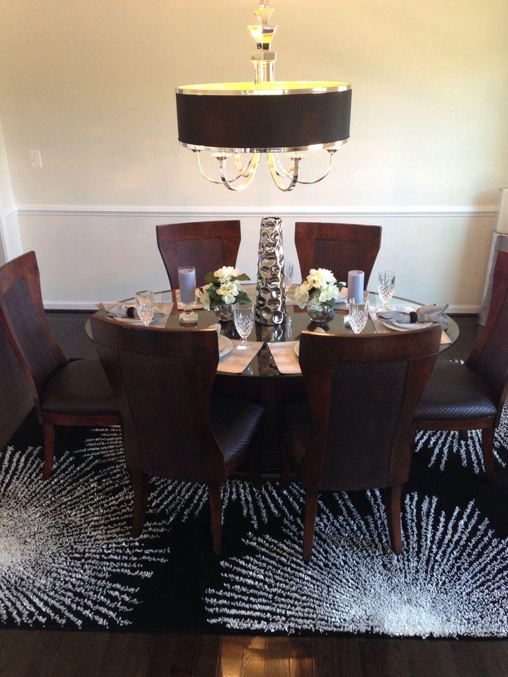Formal dining room formaldining zgallery tuxedo for Formal dining room chandelier