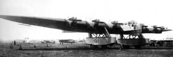 Kalinin K-7 Russian Giant Transport/Bomber Front View