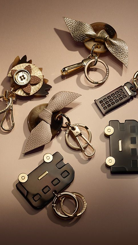 Little gifts - playful key charms with London-inspired icon. Find the perfect gift this festive season at Burberry.com #burberrygifts #christmas