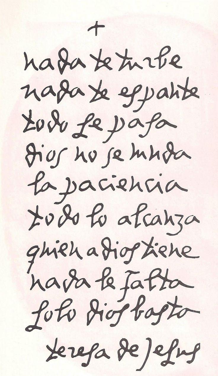 Nada Te Turbe: A Poem by St. Teresa of Avila