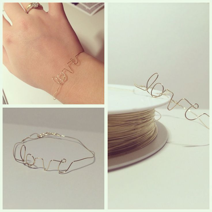 5minute diy bracelet. All you need is a goldwire! So, let me see it, diy!
