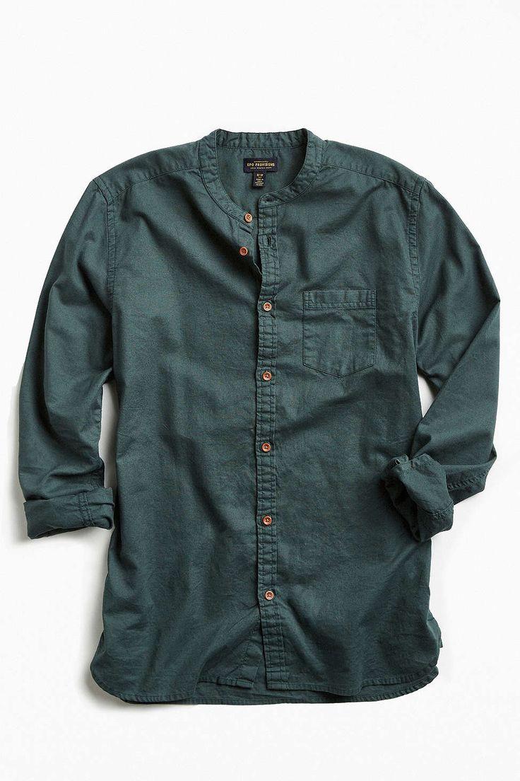 Cpo stevens band collar button down shirt awesome stuff for Awesome button down shirts