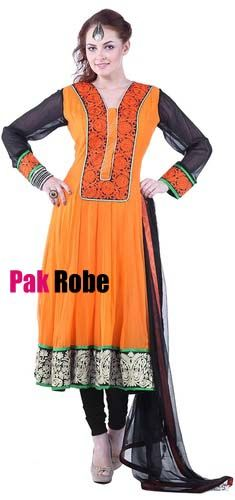 Orange Party Dress Pakistani and indian Dresses in UK and USA. Pakistani wedding dresses and bridal dresses.Pakistani Designer Party Dresses, Sami Party Dresses, Wedding Speacial and Casual Dresses. Shop Party Dresses at: www.PakRobe.com Visit our online shoping store www.PakRobe.com
