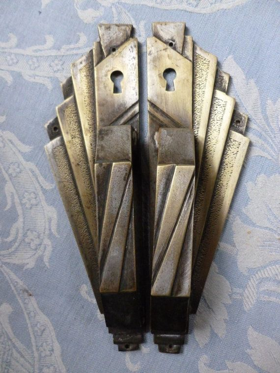 A superb pair of Art Deco chromed brass door MyVintageFrenchHouse
