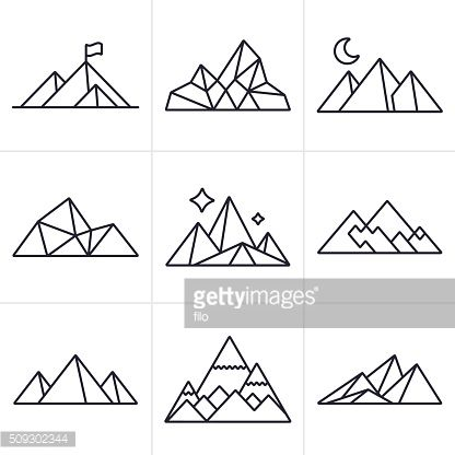 Vector Art : Mountain Symbols and Icons