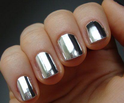 Essie: No Place Like Chrome.: Nails Design, Mirror Nails, Foil Nails, Silver Nails, Nailpolish, Nails Polish, Nails Art Design, Chrome Nails, Nails Wraps