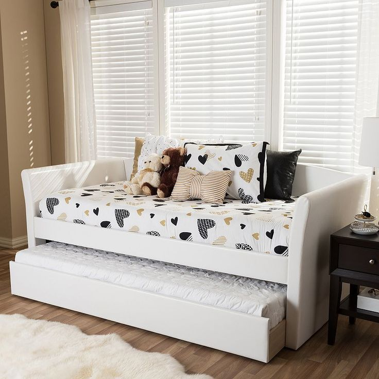 Baxton Studio Camino Contemporary Daybed & Trundle, White