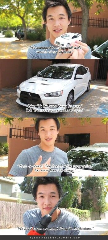 Wesley Chan of Wong Fu Productions, our family car