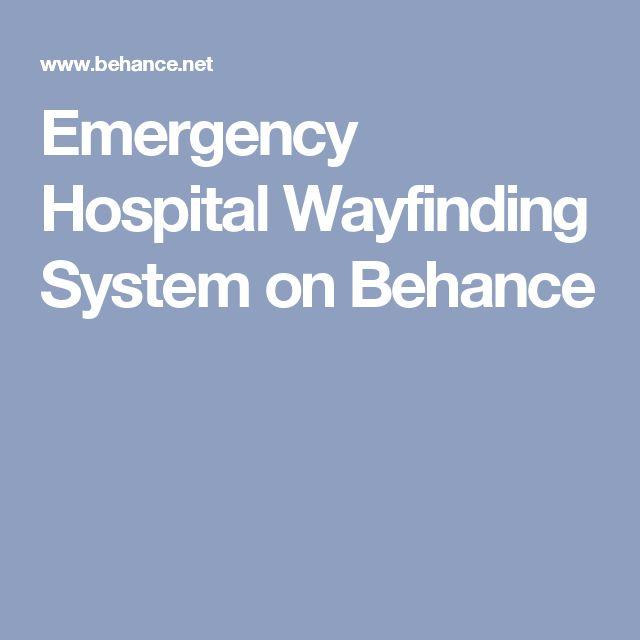 Emergency Hospital Wayfinding System on Behance