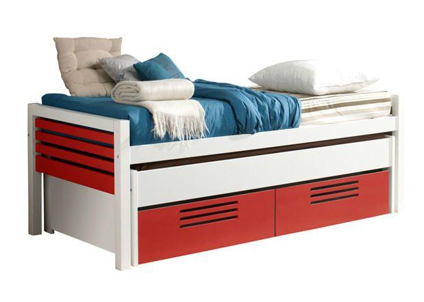 lit 90 x 190 cm atelier rouge prix promo conforama 35380 ttc au lieu de - Prix Tapis Enfant Conforama