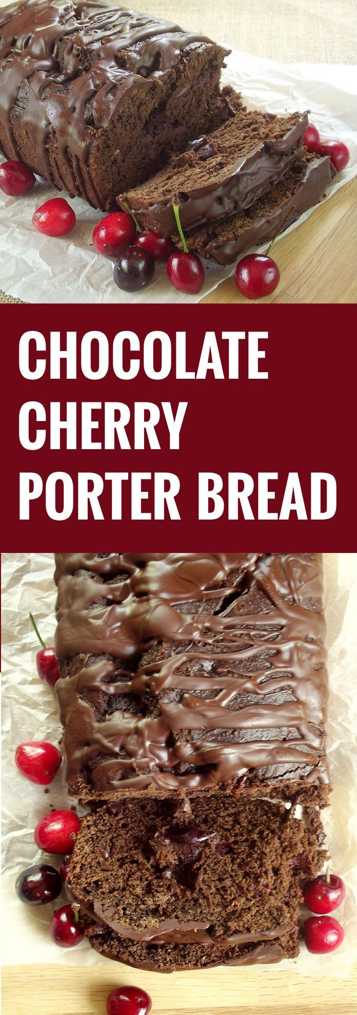 This chocolate cherry porter bread is a rich, satisfying dessert infused with the richness of chocolate and porter and bursting with ripe summer cherries.
