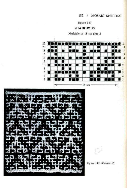 Mosaic Knitting Barbara G. Walker (Lenivii gakkard) Mosaic Knitting Barbara G. Walker (Lenivii gakkard) #187