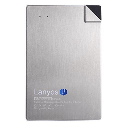 LANYOS Credit Card Wallet Power Bank 1300mAh Wallet Sized...
