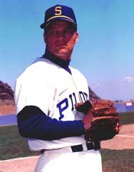 Jim Bouton of the 1969 Pilots and author of Ball Four.  Considered one of the best books written about professional baseball.