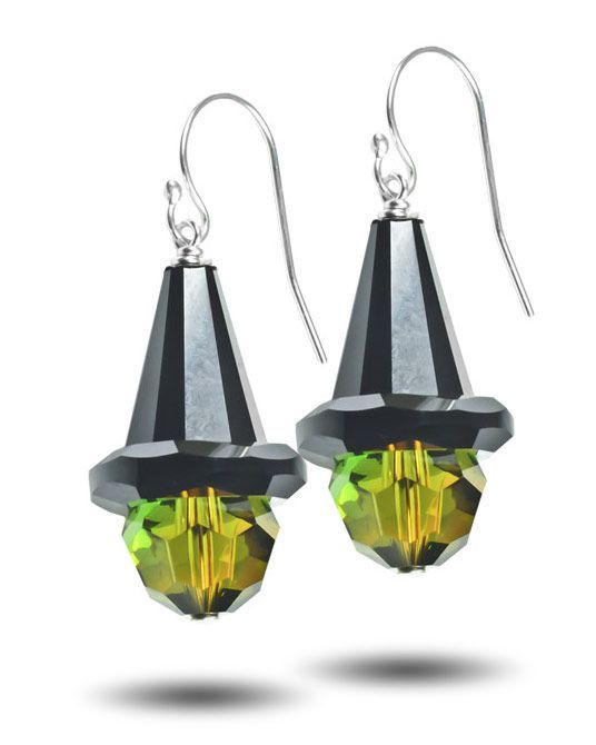 Wicked Witch Halloween Earring Kit from toocutebeads.com-- must make a pair of these!