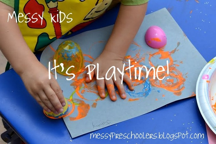 Messy Kids: Reusing Plastic Eggs on Its Playtime
