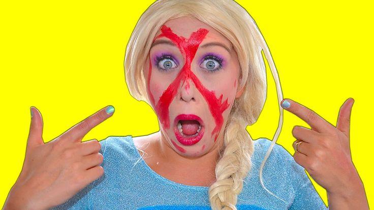 Frozen Elsa LIPSTICK ATTACK! Spiderman vs Joker & Vampire Toilet Fun Sup...