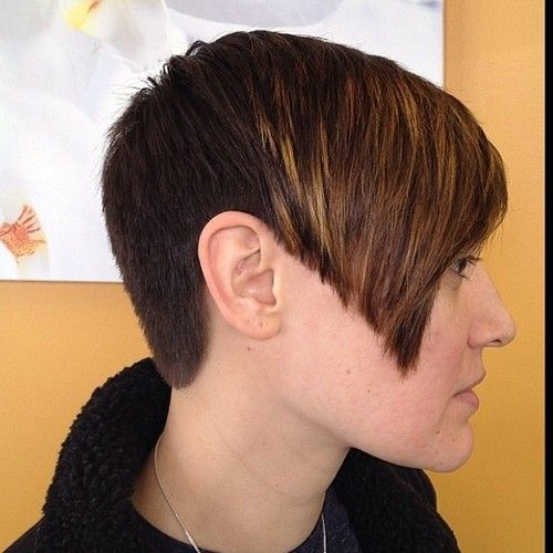 clipper cut pixie with an inverted A line bob look | Undercuts ...