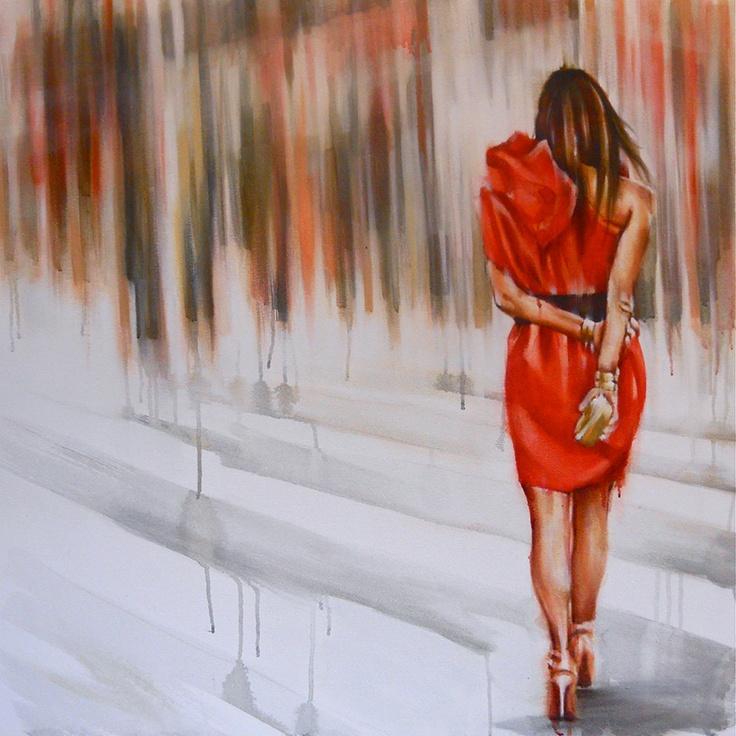 Stood Up: Size: 90cm x 90cm Media: oil on canvas Lisa Lee ...