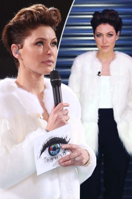 Emma Willis white fur coat: Celebrity Big Brother fans go wild for Emmas affordable Zara jacket following dramatic triple eviction of Andrew Brady Daniel OReilly and Jonny Mitchell