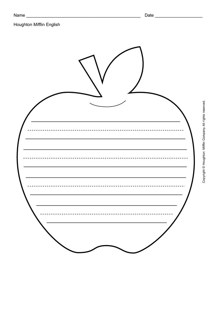 18 best Apples images on Pinterest Apples, Apple unit and Day care - leaf template for writing