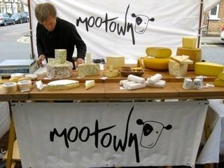 Great cheese at North Cross Road market, East Dulwich - London.