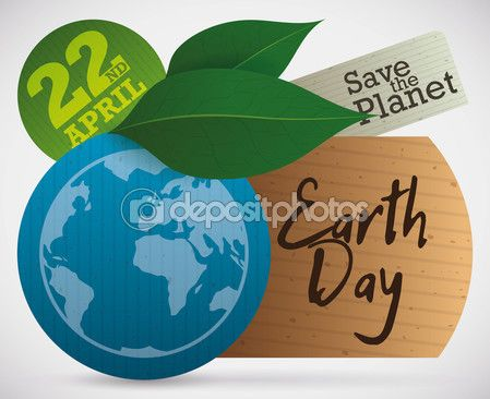 Eco Tags and Leaves for Earth Day Celebration