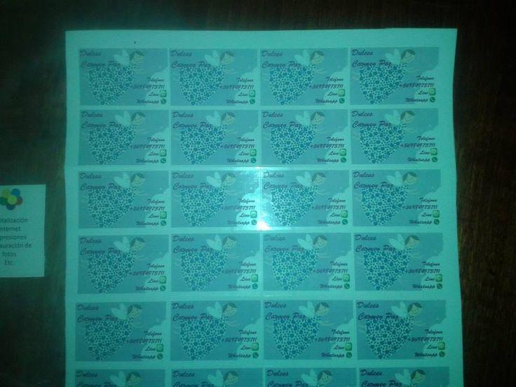 40 etiquetas Angelito