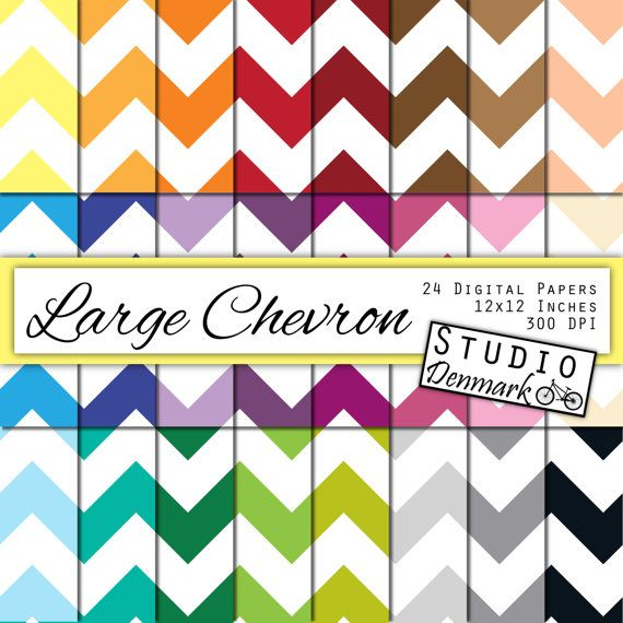 Large Chevron Digital Paper Value Pack - 24 Colors - Commercial use - 12inx12in 300 dpi jpg - Instant Download Chevron Paper #etsy  #etsymnt