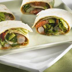 Recept » Colruyt Culinair (wrap met scampi en avocado)